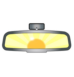 Rear view mirror glare vector