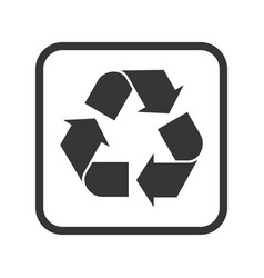 recycling packaging and logistic isolated vector image