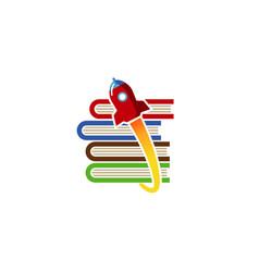 rocket store logo vector image