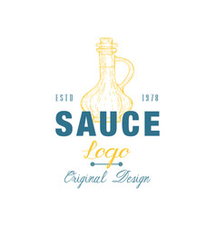 Sauce logo original design estd badge can be used vector