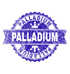 Scratched textured palladium stamp seal with vector