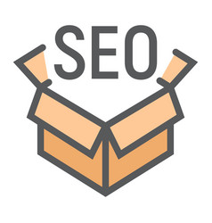 Seo package filled outline icon seo development vector