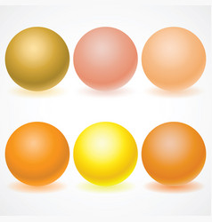 set of multicolored spheres with shadows vector image