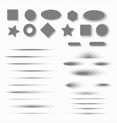 shadows with soft edges isolated on transparent vector image