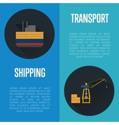 Shipping and transport banner set vector