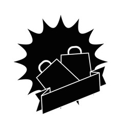 shopping bags isolated icon vector image