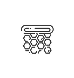 simple line art icon honeycomb frame vector image