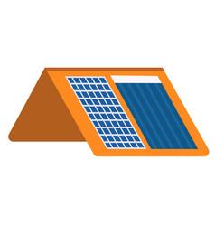 solar heating and charging panels flat vector image