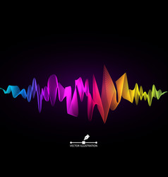 sound wave concept colorful digital equalizer vector image
