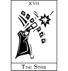 Star tarot card vector
