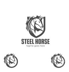 steel horse vector image