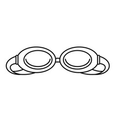 swim glasses icon outline style vector image