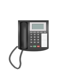 Telephone isolated on white background vector