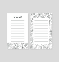 To do list with lines for notes vector