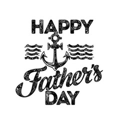 typography and lettering happy fathers day vector image