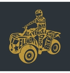 Typography lettering ATV vector
