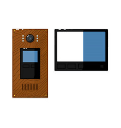 Video intercom system with display isolated on vector