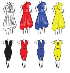 Womens dresses vector image