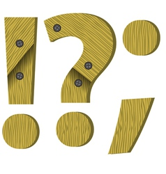 wood question mark vector image