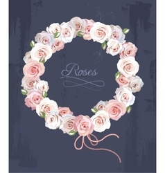 Wreath made of roses vector