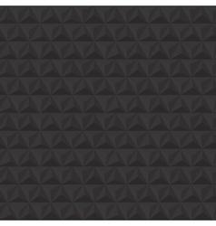 Black geometric triangle seamless pattern vector image