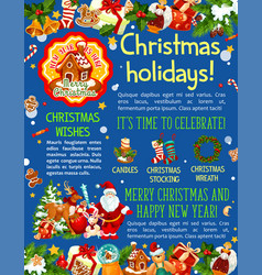 Christmas and new year holidays banner template vector