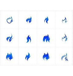 Gas fire icon set vector image vector image