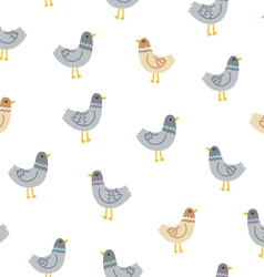 Pigeons seamless pattern vector image vector image