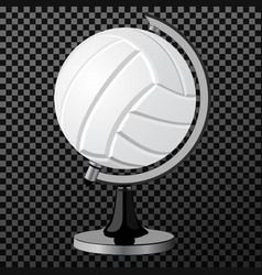 volleyball a creative concept simple vector image vector image