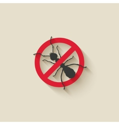 ant warning sign vector image vector image