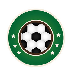 circular border with soccer ball with decorative vector image