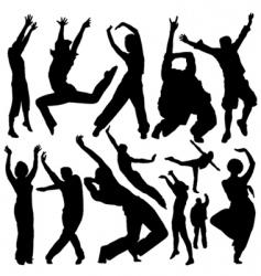 dancing people vector image vector image