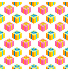 simple pattern with gifts vector image vector image