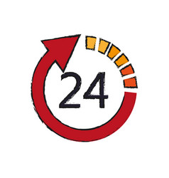 24 hours service vector image