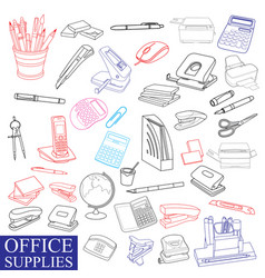 Accessories to office vector