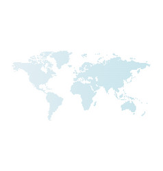 blue dotted world map isolated on white vector image vector image