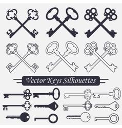 Crossed keys set - vector image