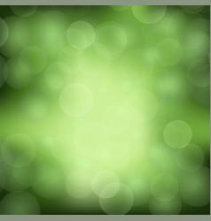 green blurred light background vector image