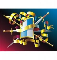 heraldic emblem vector image vector image