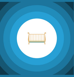 Isolated crib flat icon cot element can be vector