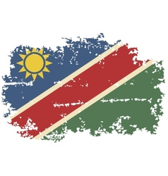 Namibia grunge flag vector image vector image