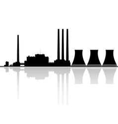 Power plant silhouette vector