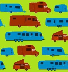 Seamless Caravan Pattern vector image
