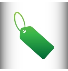 Tag sign Green gradient icon vector image vector image