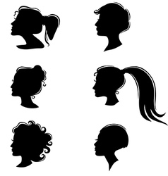 womans profile vector image vector image