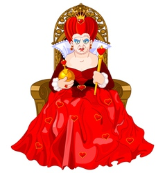 Angry Queen on throne vector image
