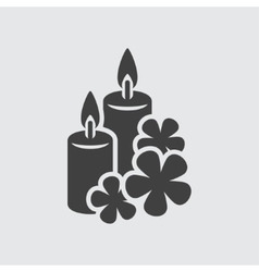 Aroma candle icon vector image vector image