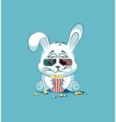 Emoji character cartoon White leveret vector image vector image