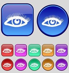 eyelashes icon sign A set of twelve vintage vector image