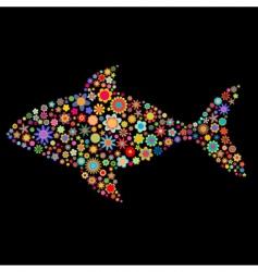 fish shape vector image vector image